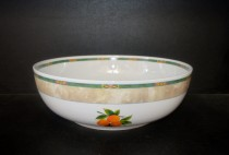 Big salad bowl 80H, porcelain fruit.