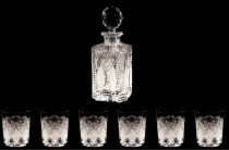 Whisky cut crystal set 56523, 7-segment.