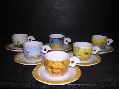 Cup and saucer mocca Dova van Gogh 6pcs