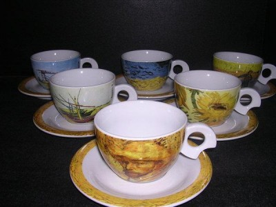 Cup and saucer Dova Van Gogh coffee / tea 160 mm. 6pcs