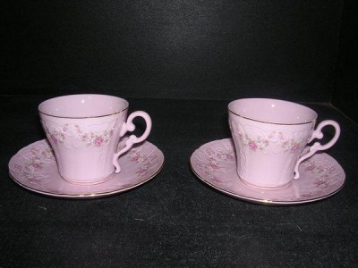 Cup with saucer 0.15 L. El 158 2 pc Pink