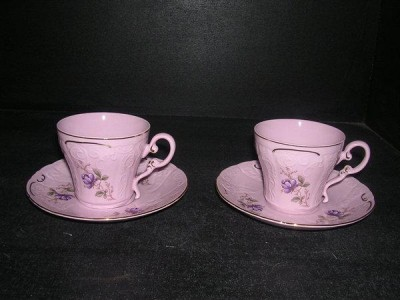 Cup with saucer 0.15 L. El 311 2 pc Pink