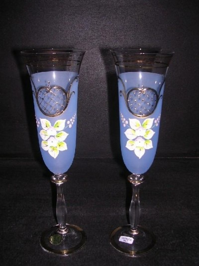 Flutes Angela 190 ml. blue 2 pc.