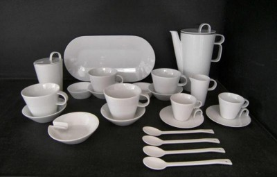 COFFEE SET BOHEMIA WHITE 23pcs.