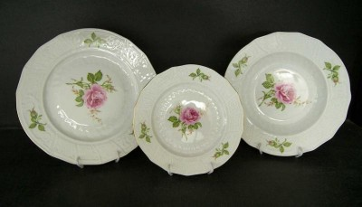 25278 Rose Plate Set 18 pcs.