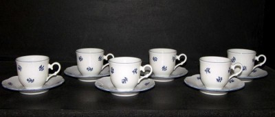 Cup and saucer Ophelia 673V 140mm. 6pcs