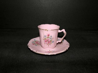 Cup and saucer Amis 013 0.15 ml. pink