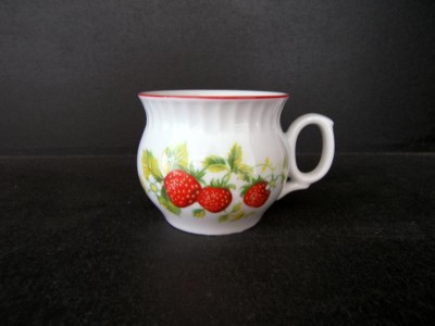 Mug Dar strawberry red line 0.29 l. 6pcs