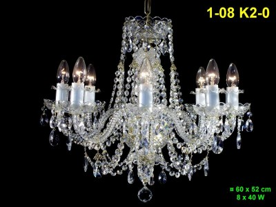 8 arm crystal chandelier 1-08 K2-0