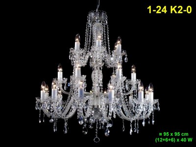 Twenty-four arm crystal chandelier 1-24 K2-0