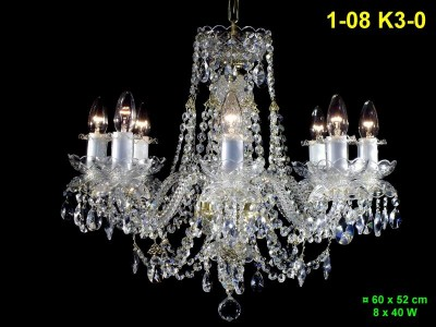 Eight arm crystal chandelier 1-08 K3-0
