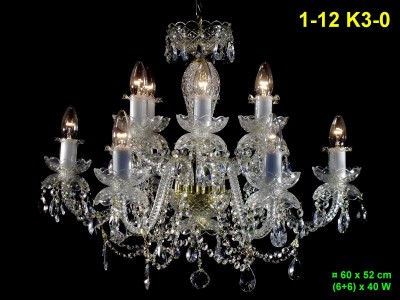 Twelve arm crystal chandelier 1-12 K3-0
