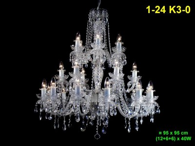 Twenty-four arm crystal chandelier 1-24 K3-0
