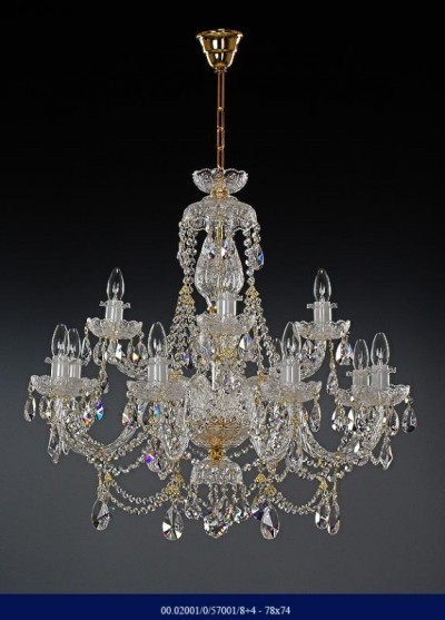 Cut crystal chandelier arm 8 +4 02001/57001/8+4 78*74