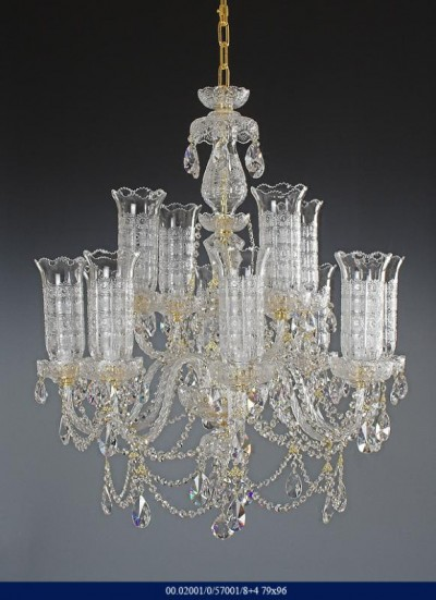 Cut crystal chandelier arm 8 +4 02001/57001/8+4 79*96