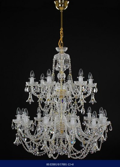 Cut crystal chandelier arm 12 +6  02001/57001/12+6
