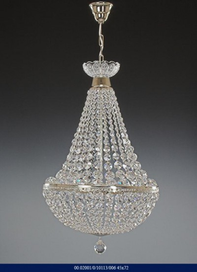 CHANDELIER BRILLIANT CRYSTAL SILVER COLOR 02001/10113/006 45*72