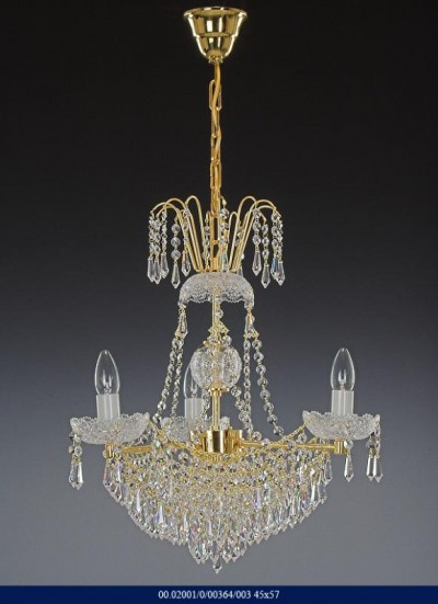 Brilliant crystal chandelier 3 arm 02001/00364/003 45 * 57