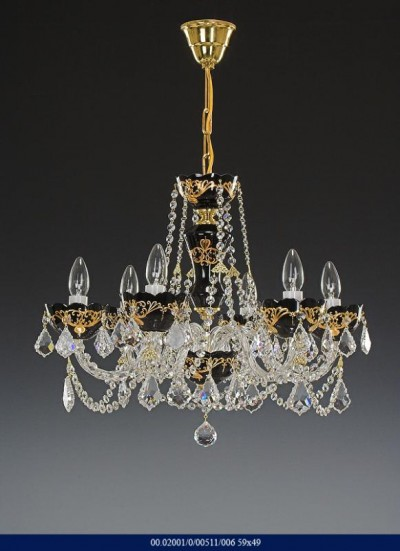 6 arm chandelier Enamel 02001/00511/006 59 * 49