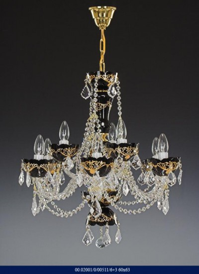 Enamel Chandelier 6 +3 arm 02001/00511/6 +3 60 * 63