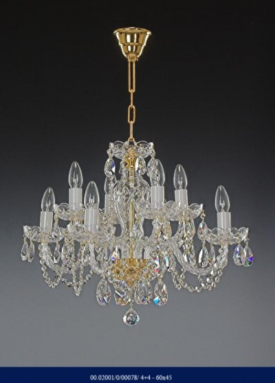 Crystal Chandelier arm 4 +4  02001/00078/4+4 60*45