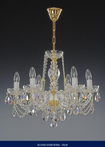 Six arm crystal chandelier 02001/00078/006 59*49