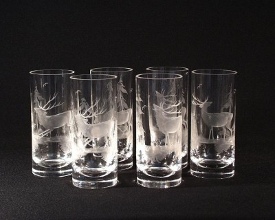 GLASS TUMBLER CRYSTAL DEERS 2001/00001/350j 6pcs.
