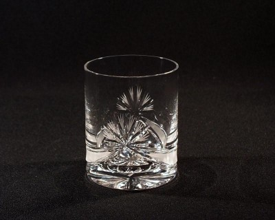 Cut crystal whiskey glasses ribbon 320 ml. 6 pcs