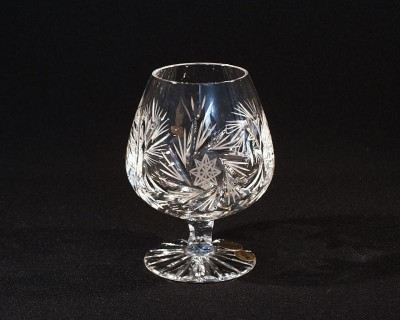 Crystal Brandy Glasses Pinwheel 10014/26008/420 0.42 l. 1pc.