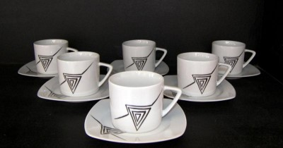 Cup and saucer 0,2 l Tetra 023V 6pcs