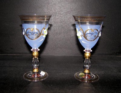 GLASS HIGH ENEMAL BLUE 2pcs. 200ml.