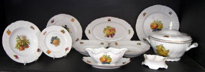 Porcelain dining set Bernadotte fruit 25 pcs.