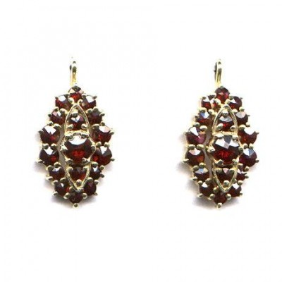 EARRINGS 3079 BOHEMIAN GARNET