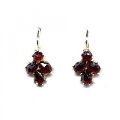 EARRINGS 3153 BOHEMIAN GARNET