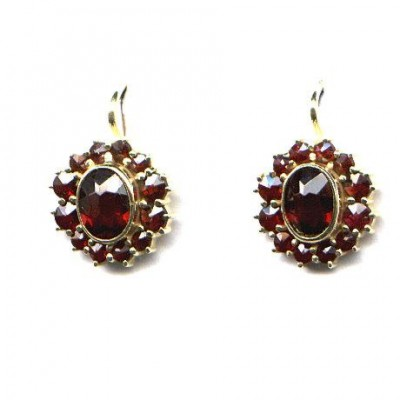 EARRINGS 3304 BOHEMIAN GARNET