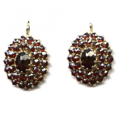EARRINGS 3322  GARNET