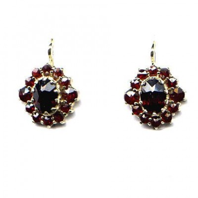 EARRINGS 3329 BOHEMIAN GARNET