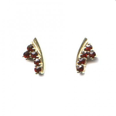 EARRINGS 3376 BOHEMIAN GARNET