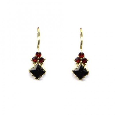 EARRINGS 3408 BOHEMIAN GARNET