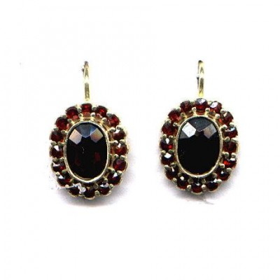 EARRINGS GARNET 3578