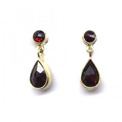 EARRINGS GARNET 3734