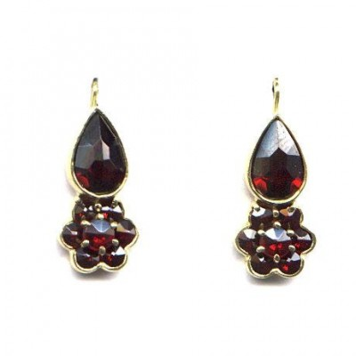 EARRINGS GARNET 3827