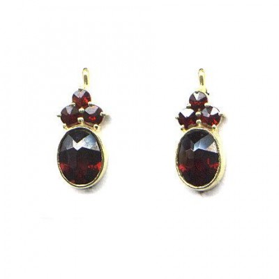 EARRINDS GARNET 3862