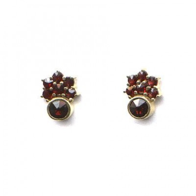 EARRINGS GARNET 3915