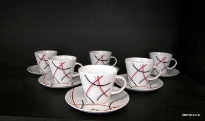 CUP AND A SAUCER TOM 30055 6pcs. TEA