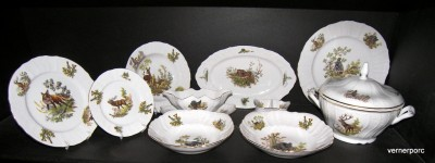Bernadotte Dining set 1011 hunting 25pcs.