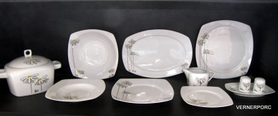 Porcelain dinner set Tetra 046V 25 pcs.