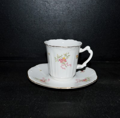Cup with saucer Amis bouquet, 0,15l.