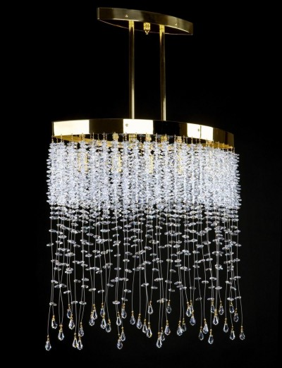 Ceiling modern L461CE chandelier, golden.